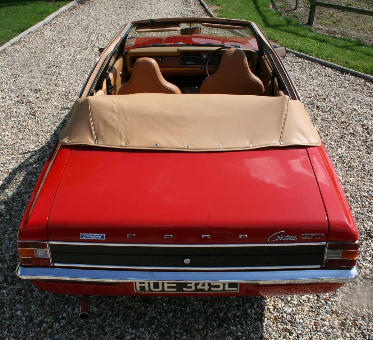 1972 Ford Cortina MK3 2.0 GT Crayford Convertible Auto.Very Rare For Sale (picture 2 of 6)