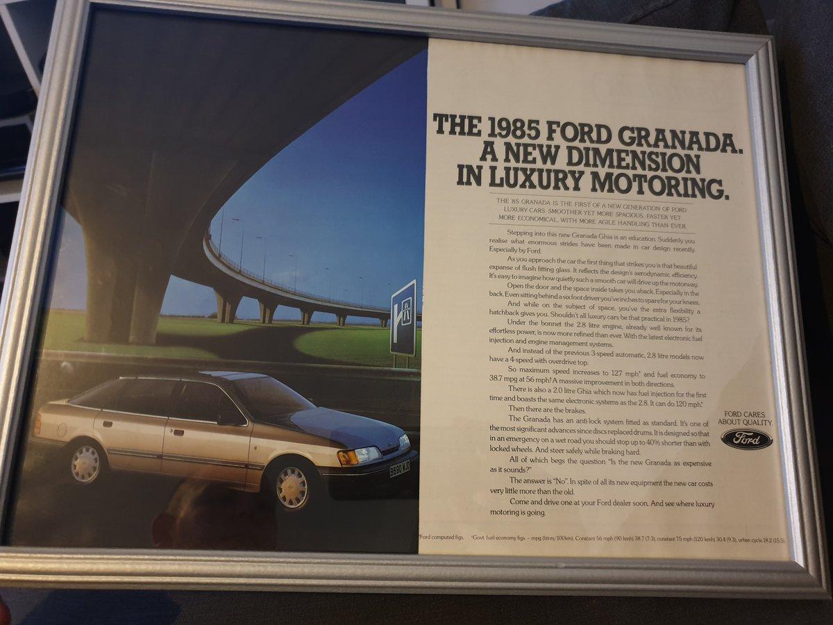 1985 Original Ford Granada A3 advert For Sale (picture 1 of 2)