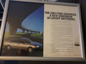 1985 Original Ford Granada A3 advert For Sale