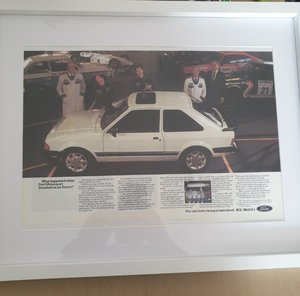 1983 Original A3 framed RS1600i advert