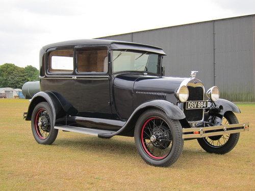 1929 Model A - 2 door Tudor For Sale (picture 1 of 6)