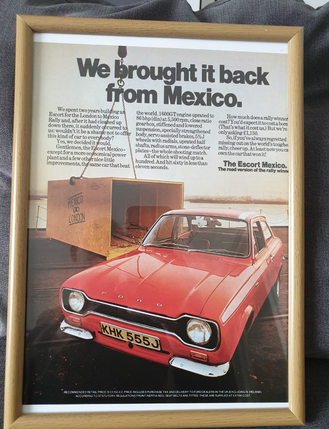 1971 Ford Escort Mexico Mk1 original advert  For Sale (picture 1 of 2)