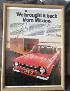 Ford Escort Mexico Mk1 original advert