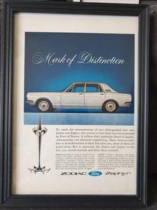 1966 Original Ford Zodiac/Zephyr Advert
