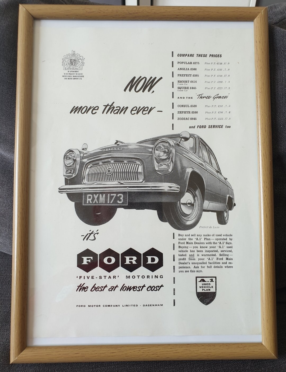 1956 Ford Prefect advert Original  For Sale (picture 1 of 2)