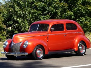 1940 Ford 2 Door Coupe All Steel 350(~)350 AC mods $29.5k For Sale