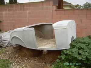 1932 Molds to build fiberglass roadster bodies