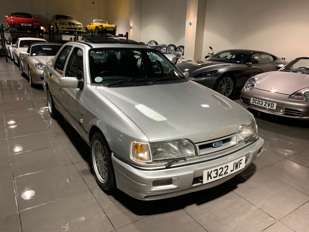 1992 Ford Sierra Sapphire RS Cosworth 4x4 Moondust Silver For Sale (picture 3 of 6)