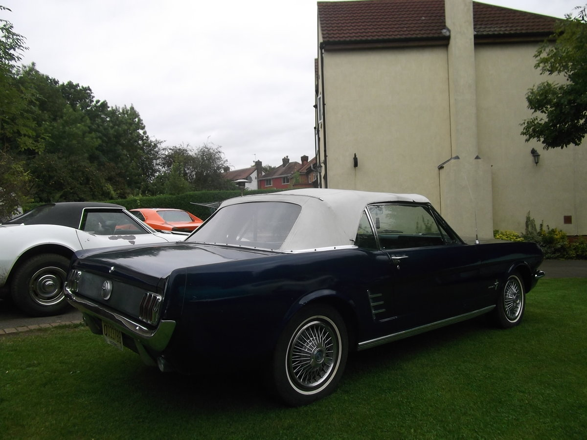 1966 Mustang Convertible Straight 6, Automatic, Light restoration SOLD (picture 2 of 6)
