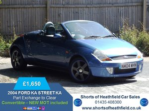 2004  Ford Streetka 1.6 Luxury - 3 Dr Convertible