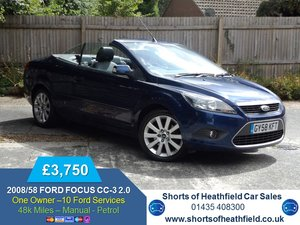 2008/58 Ford Focus CC 2.0 CC-3 - 3 Dr Convertible -ONE OWNEr For Sale