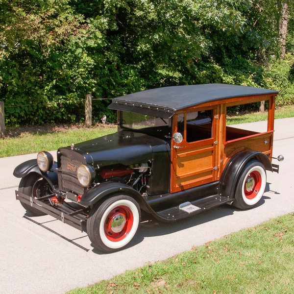 1927 Ford Model T HotRod Woody Wagon Cool Custom V-8 $22.9k For Sale (picture 1 of 5)