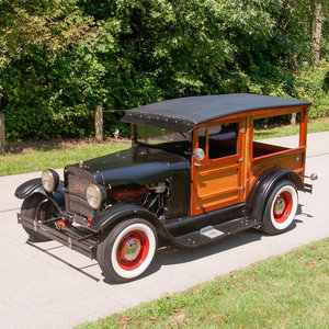 1927 Ford Model T HotRod Woody Wagon Cool Custom V-8 $22.9k