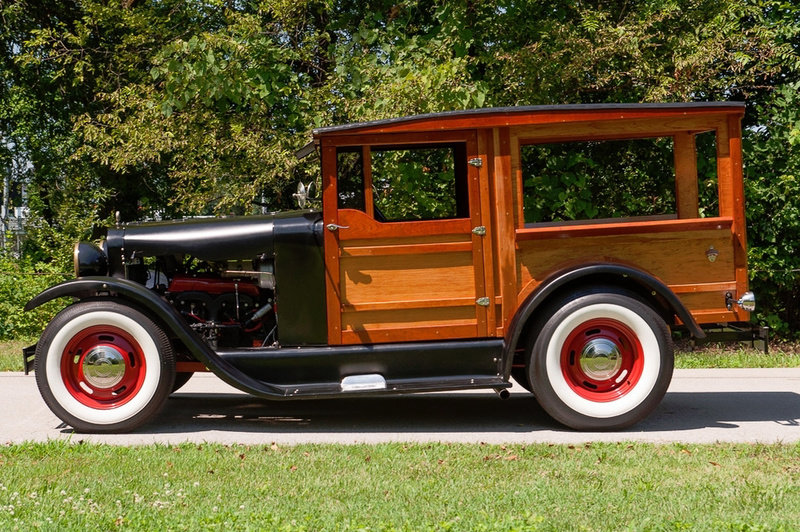 1927 Ford Model T HotRod Woody Wagon Cool Custom V-8 $22.9k For Sale (picture 2 of 5)