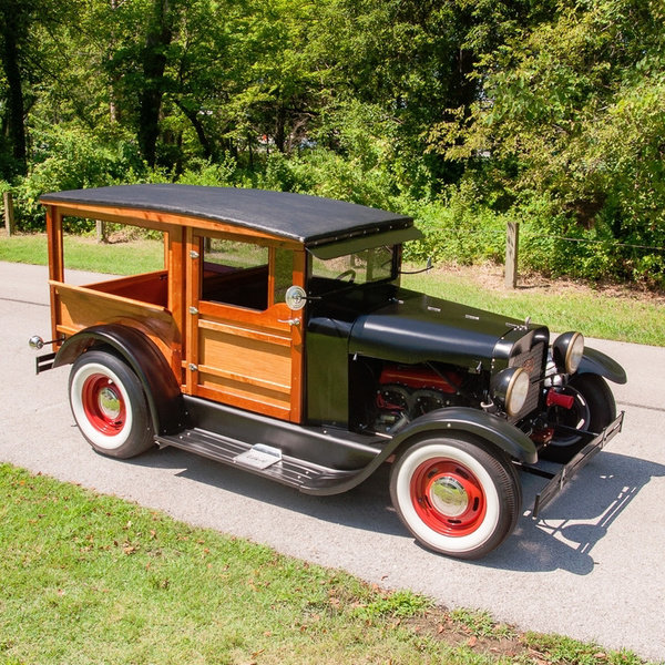 1927 Ford Model T HotRod Woody Wagon Cool Custom V-8 $22.9k For Sale (picture 4 of 5)