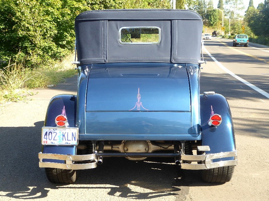 1928 Ford Roadster Rumble(~)Seat Restored Clean Blue driver For Sale (picture 3 of 6)