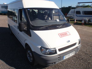2005 Ford Transit Bus,1 lady owner 12k chair lift.