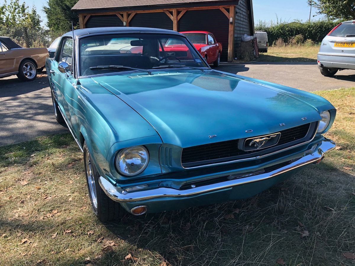 1966 Turquoise Ford Mustang V8 Manual SOLD (picture 1 of 6)