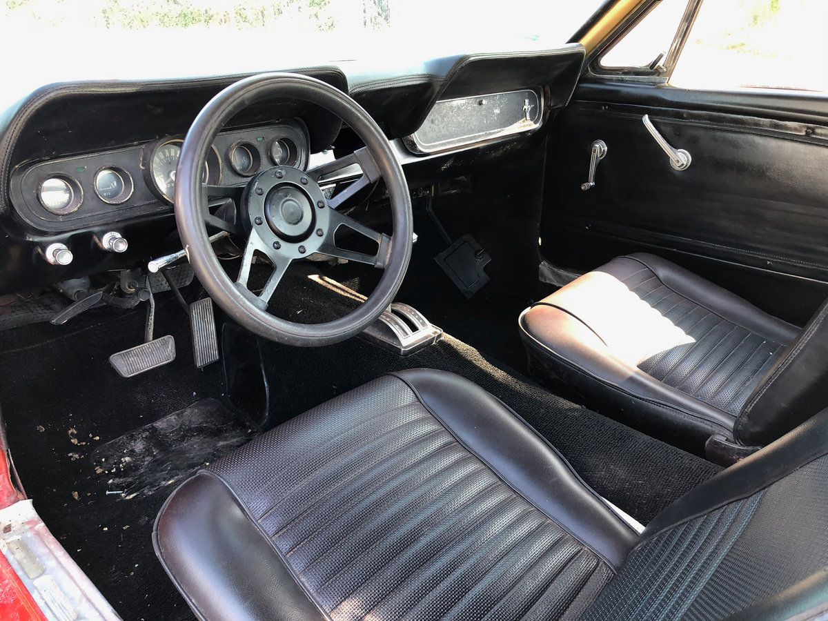 1966 Red Ford Mustang V8 Auto PROJECT For Sale (picture 5 of 6)