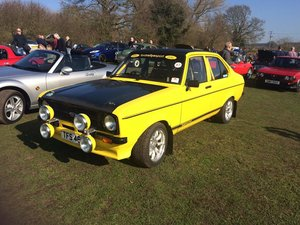 1980 4 door mk2 escort st170 engine on throttle bodies