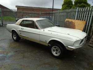 FORD-MUSTANG-AUTO-COUPE-1967-WHITE SOLID SHELL SOLD