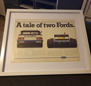 1989 Ford Framed Advert Original  For Sale