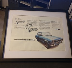1973 Escort RS2000 Advert Original