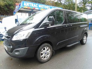 2014 FORD TOURNEO LWB TITANIUM IN BLACK WITH 53K MILES For Sale
