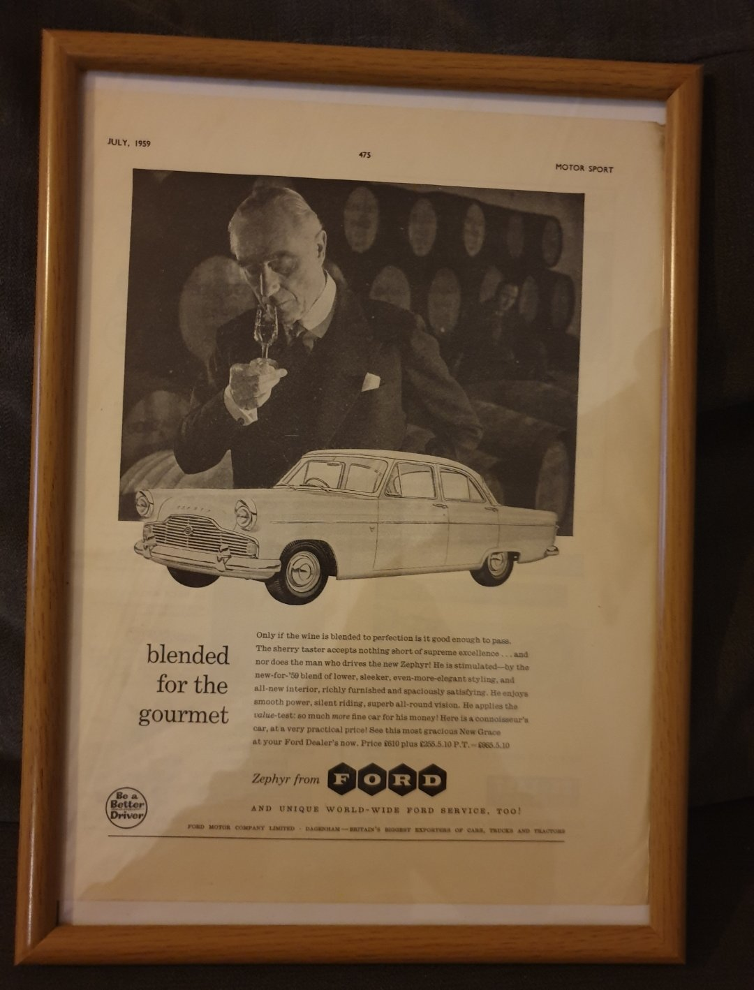 1959 Ford Zephyr Advert Original  For Sale (picture 1 of 2)