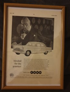 Ford Zephyr Advert Original