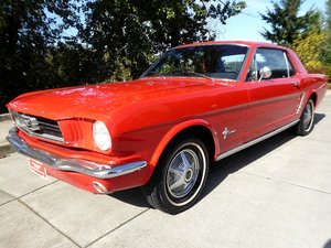 1965 Mustang Coupe Red(~)Black 6-cyls Manual Driver $11.5k
