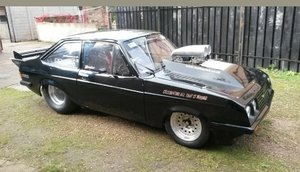 A 1980 Ford Escort RS2000 drag racer