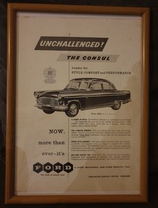 1957 Ford Consul Advert Original