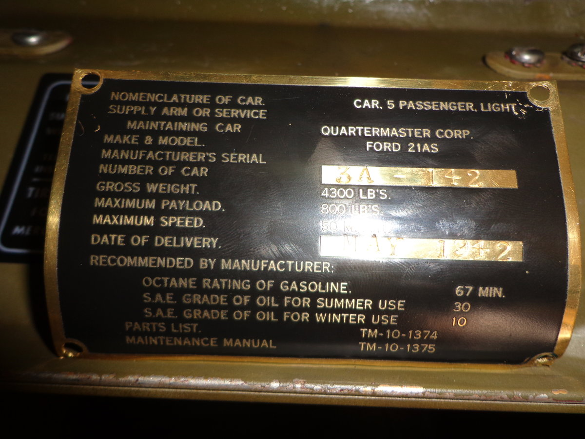 1942 3A/21A Canadian Ford Procurement Staff Car For Sale (picture 5 of 6)