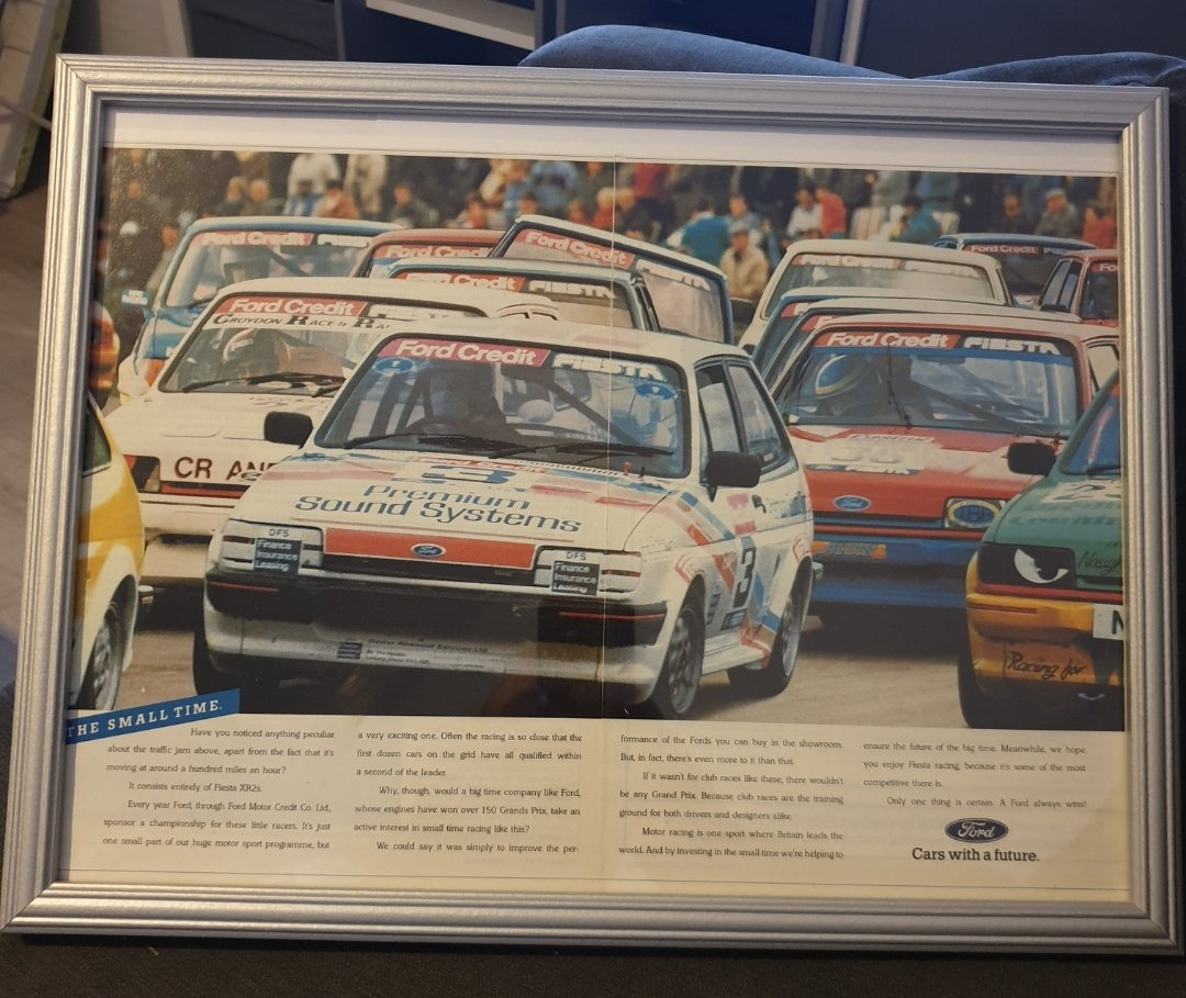 Original 1987 Ford Fiesta XR2 Framed Advert For Sale (picture 1 of 3)