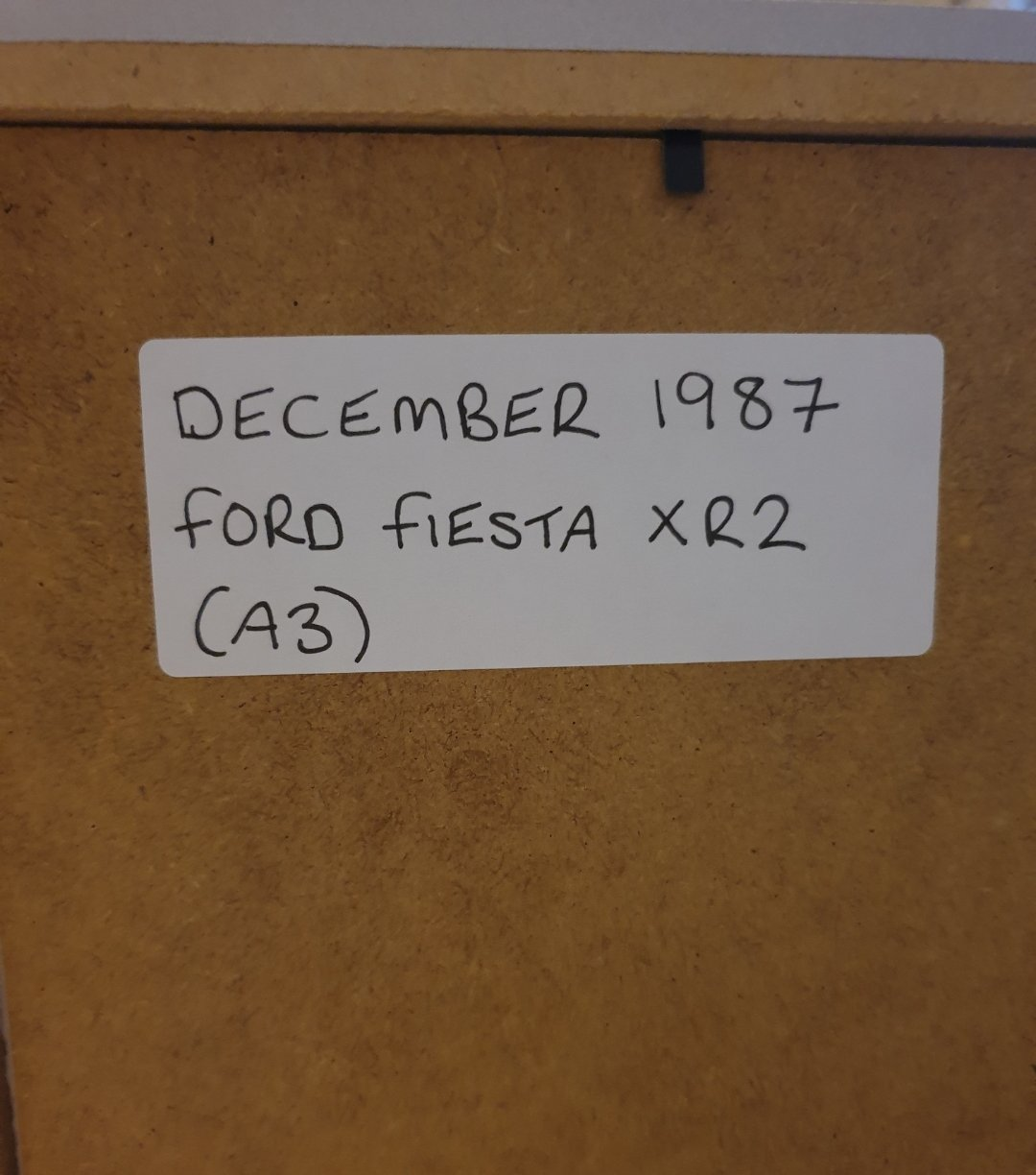 Original 1987 Ford Fiesta XR2 Framed Advert For Sale (picture 2 of 3)