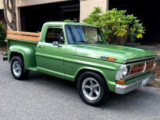 Ford F100 Pick-Up Truck Custom 302 Auto Go Green  $23.9k