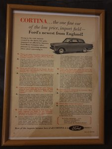 1963 US Cortina Advert Original