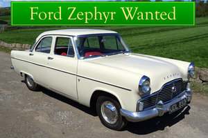 FORD ZEPHYR WANTED, CLASSIC CARS WANTED, IMMEDIATE PAYMENT Wanted