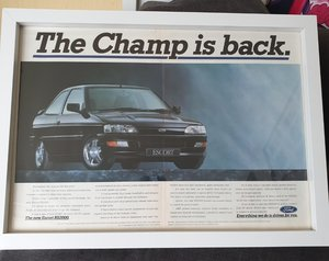 1991 Escort RS2000 Framed Advert Original