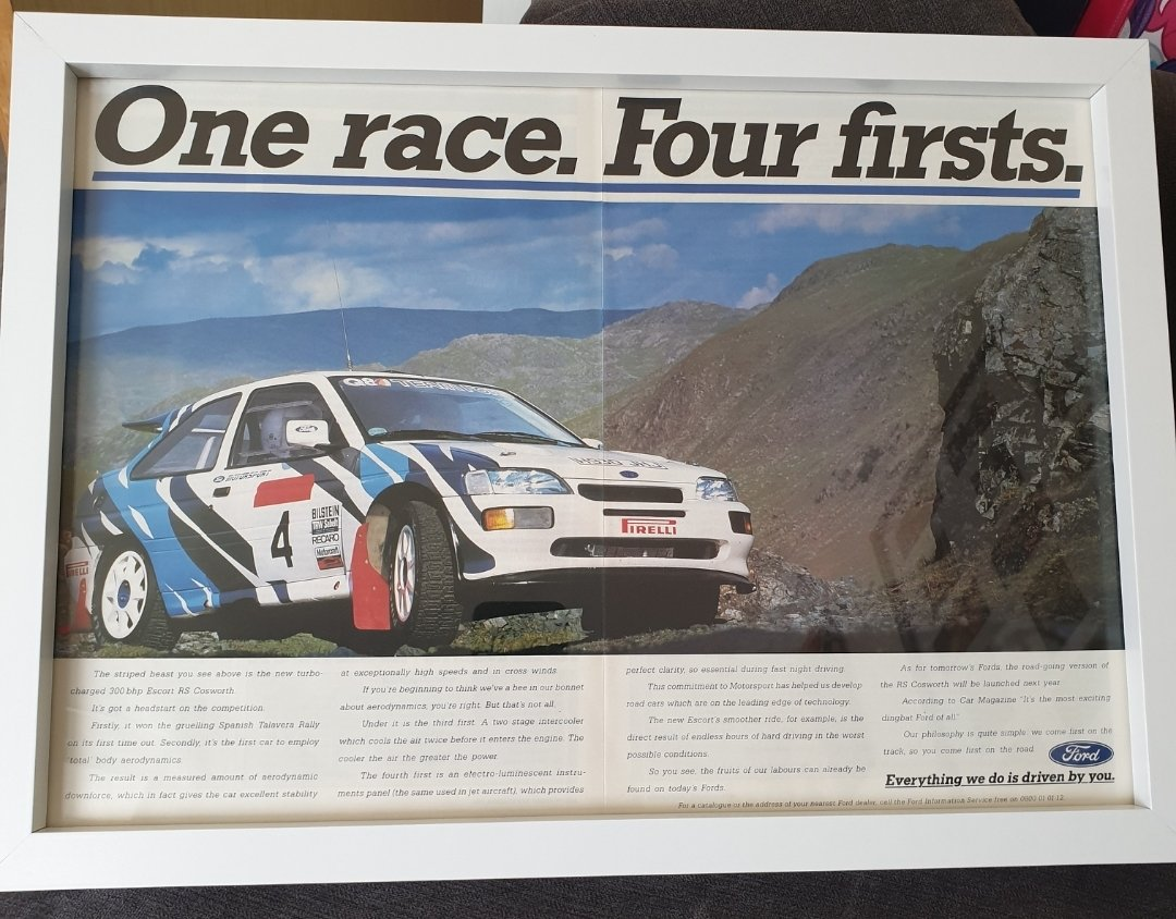 Original 1991 Ford Escort RS Cosworth Advert For Sale (picture 1 of 3)