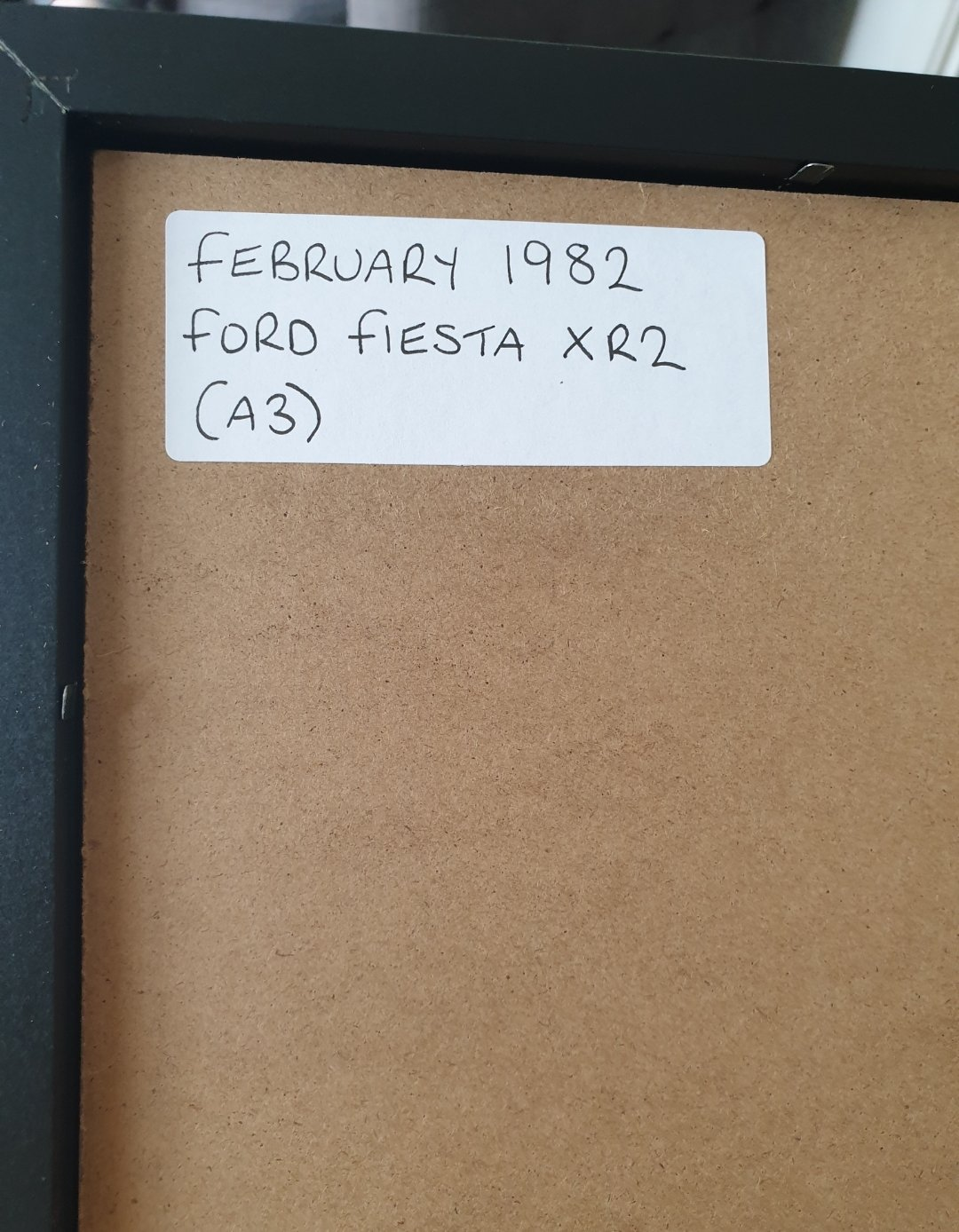 1982 Ford Fiesta XR2 Framed Advert Original  For Sale (picture 2 of 2)