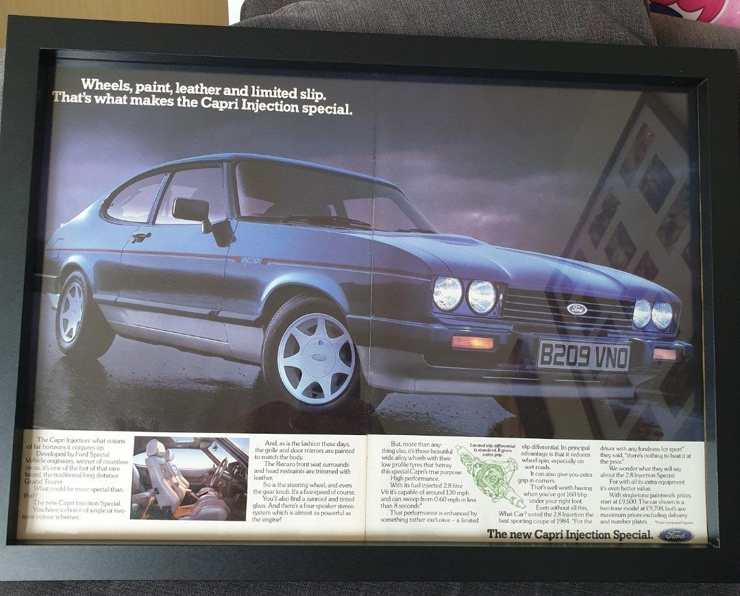 1984 Ford Capri 2.8i Advert Original  For Sale (picture 1 of 2)