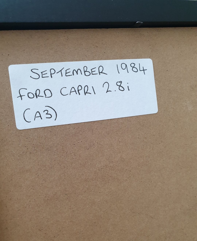 1984 Ford Capri 2.8i Advert Original  For Sale (picture 2 of 2)