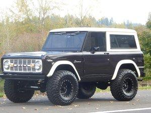 1972 Ford Bronco SUV 4x4 Restored  302  Manual  Black $44.5k For Sale