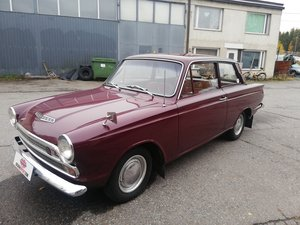 Ford Cortina 1200 Deluxe 1965, rare colour. SOLD