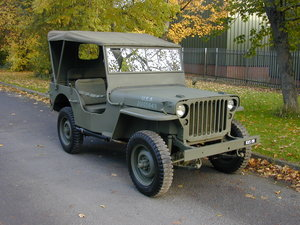 FORD GPW SCRIPT WW2 JEEP - RESTORED - EXCEPTIONAL!!