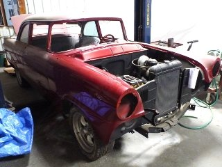 1955 Ford 2 Door Coupe = Project No Engine New Paint $4.5k