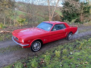 1965 Ford Mustang 302 V8 Automatic Candy Apple Red For Sale