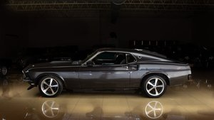 1969 Ford Mustang Coupe = V-8 AT Many Mods All Black $49.9k For Sale